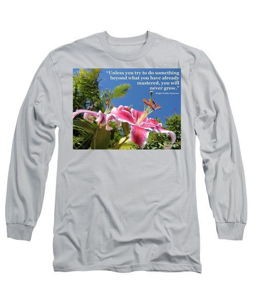 Choose Your Quote Choose Your Picture 18 Long Sleeve T-Shirt