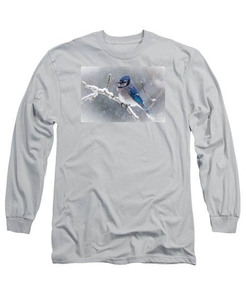 Christmas Card Bluejay Long Sleeve T-Shirt