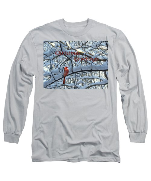 Long Sleeve T-Shirt featuring the photograph Christmas Card - Christmas Greeting by Larry Bishop
