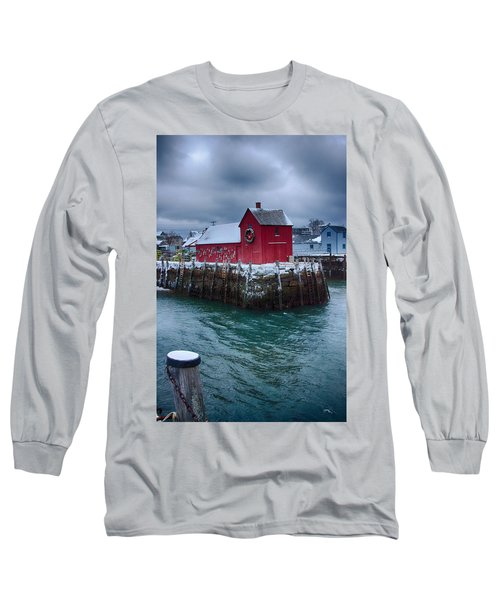 Christmas In Rockport Massachusetts Long Sleeve T-Shirt