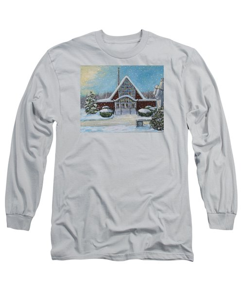 Christmas Morning At Our Lady's Church Long Sleeve T-Shirt by Rita Brown