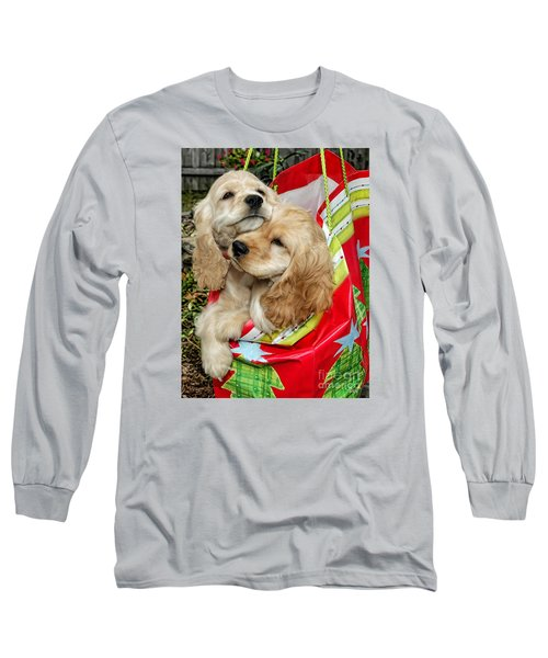 Long Sleeve T-Shirt featuring the photograph Christmas Shopping by Sami Martin