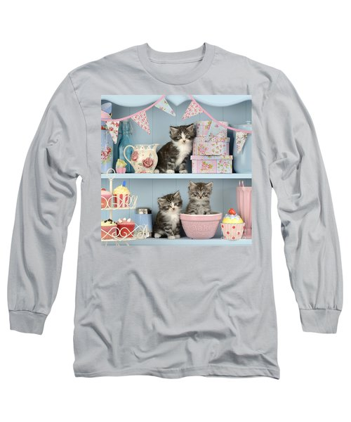 Baking Shelf Kittens Long Sleeve T-Shirt