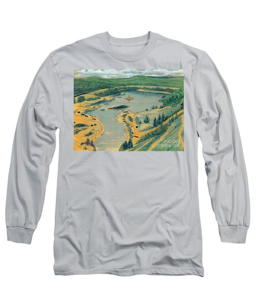 Long Sleeve T-Shirt featuring the painting Clearwater Lake Early Days by Kip DeVore