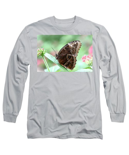 Closed Blue Morpho Long Sleeve T-Shirt
