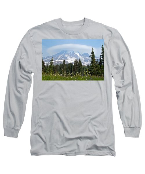 Cloud Capped Rainier Long Sleeve T-Shirt