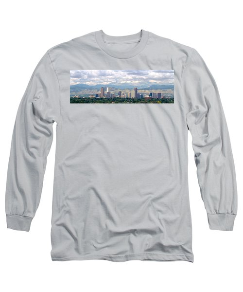 Clouds Over Skyline And Mountains Long Sleeve T-Shirt