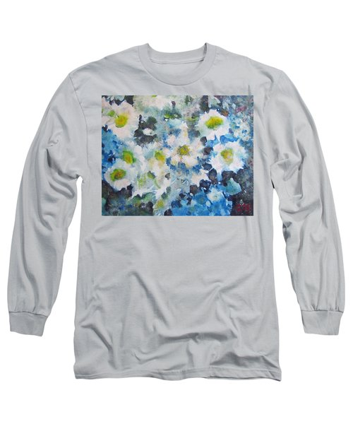 Cluster Of Daisies Long Sleeve T-Shirt by Richard James Digance