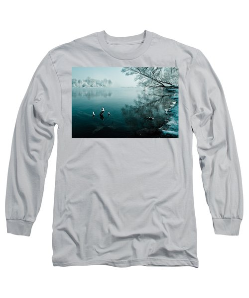 Color Of Ice Long Sleeve T-Shirt by Davorin Mance