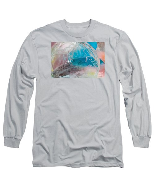 Coloured Ice Creation Print #4 Long Sleeve T-Shirt by Nina Silver