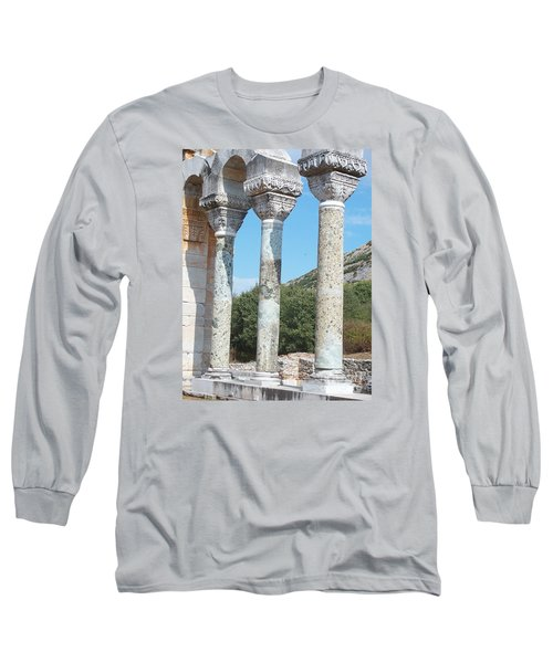 Columns Long Sleeve T-Shirt by Marilyn Zalatan