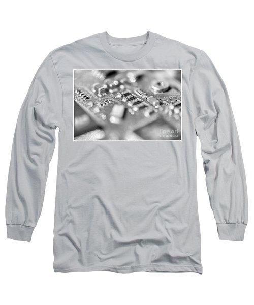 Computer Board High Key Black And White Long Sleeve T-Shirt