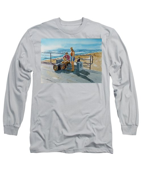 Concert In The Sun To An Audience Of One Long Sleeve T-Shirt by Debbie Lewis