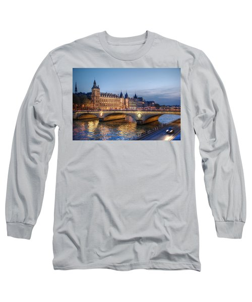 Conciergerie And Pont Napoleon At Twilight Long Sleeve T-Shirt