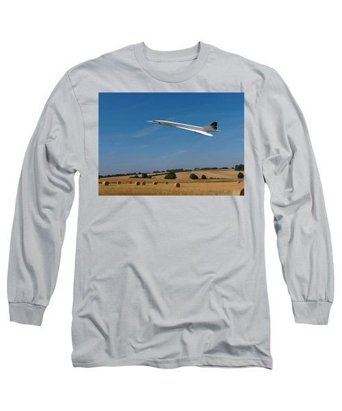 Concorde At Harvest Time Long Sleeve T-Shirt by Paul Gulliver