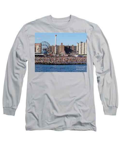 Long Sleeve T-Shirt featuring the photograph Coney Island by Ed Weidman