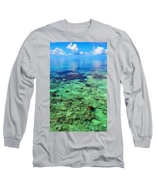 Coral Reef Near The Island At Peaceful Day. Maldives Long Sleeve T-Shirt