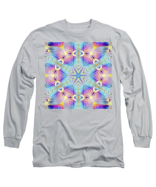 Cosmic Spiral Kaleidoscope 17 Long Sleeve T-Shirt
