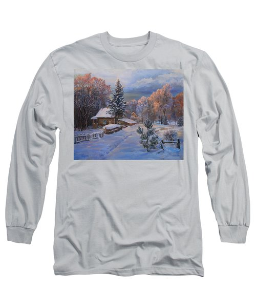 Country House In Winter Long Sleeve T-Shirt