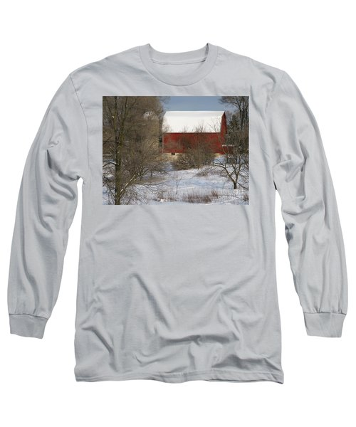 Long Sleeve T-Shirt featuring the photograph Country Winter by Ann Horn