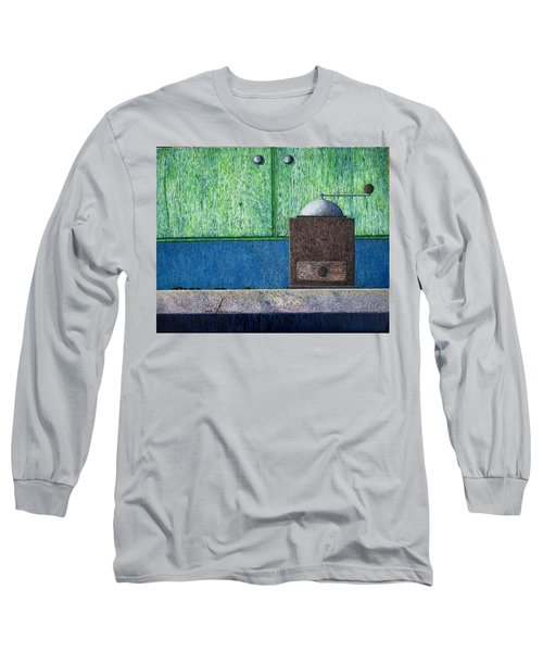 Long Sleeve T-Shirt featuring the painting Crafting Creation by A  Robert Malcom