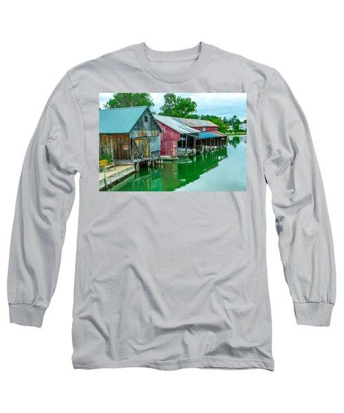 Crooked River Marina Long Sleeve T-Shirt
