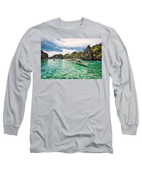 Crystal Water Fun Land Long Sleeve T-Shirt by John Swartz