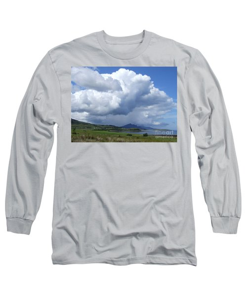 Long Sleeve T-Shirt featuring the photograph Cumulus Clouds - Isle Of Skye by Phil Banks