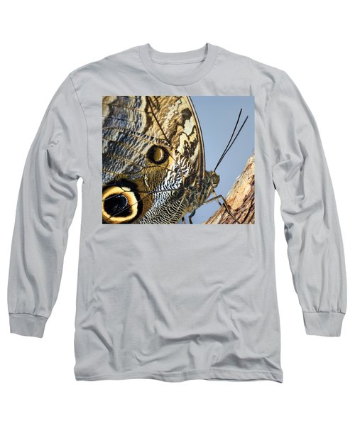Curve Of A Butterfly Long Sleeve T-Shirt by Sonya Lang