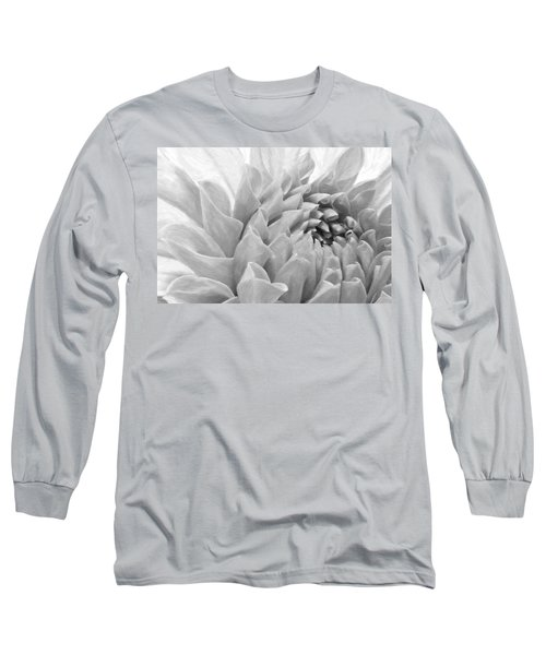 Dahlia Petals - Digital Pastel Art Work  Long Sleeve T-Shirt