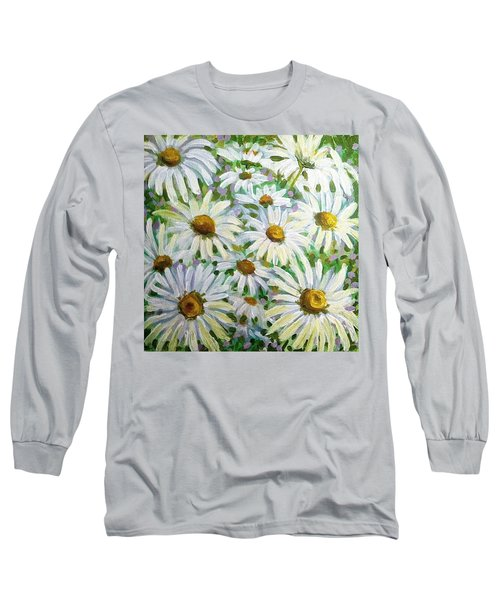 Daisies Long Sleeve T-Shirt by Jeanette Jarmon