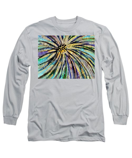 Long Sleeve T-Shirt featuring the painting Daisy Blue by Joan Reese