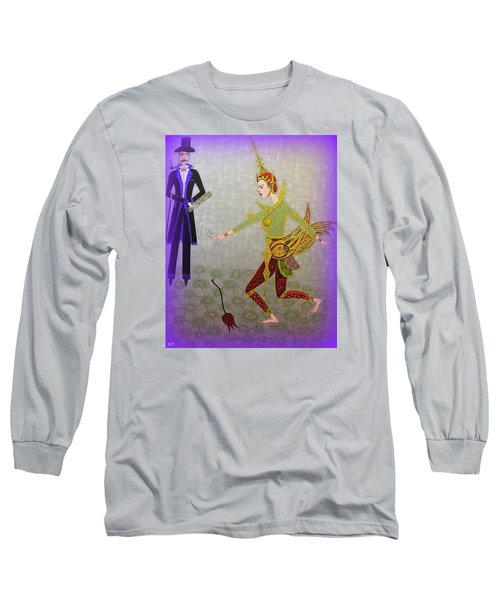 Dance Of A Nymph Long Sleeve T-Shirt by Marie Schwarzer