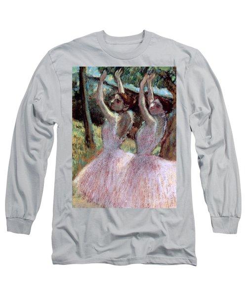Dancers In Violet Dresses Long Sleeve T-Shirt