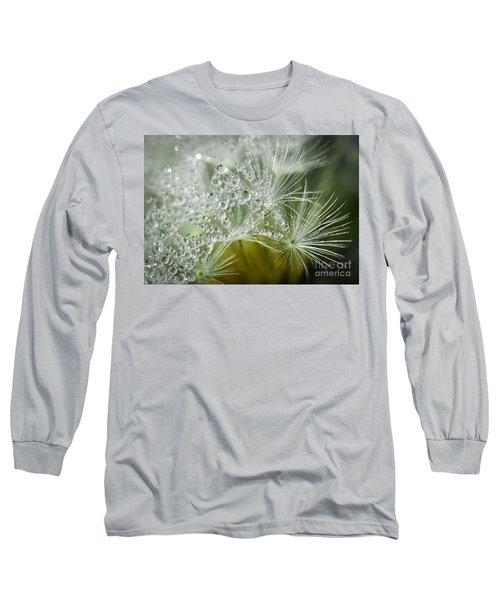 Dandelion Dew Long Sleeve T-Shirt by Amy Porter