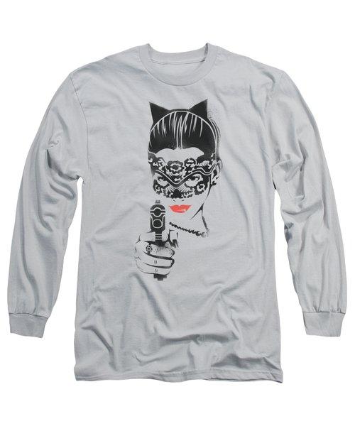 Dark Knight Rises - Cat Gun Long Sleeve T-Shirt