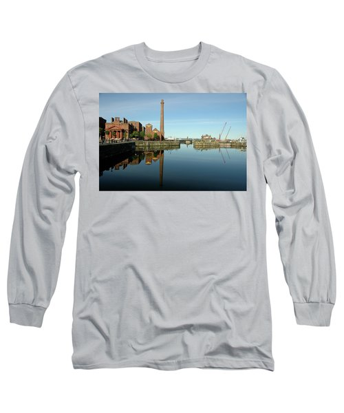 Deep Blue Reflections Long Sleeve T-Shirt by Jonah  Anderson