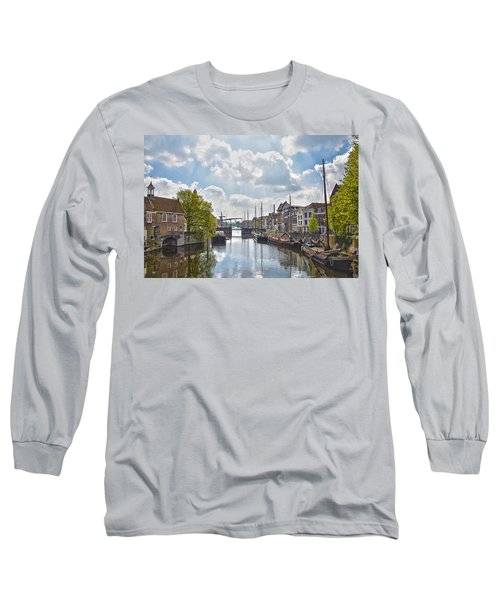 Long Sleeve T-Shirt featuring the photograph Delfshaven Rotterdam by Frans Blok