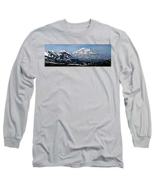Long Sleeve T-Shirt featuring the photograph Denali National Park Panorama by John Haldane