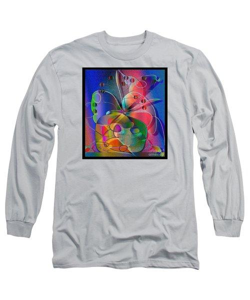 Long Sleeve T-Shirt featuring the digital art Design #29 by Iris Gelbart