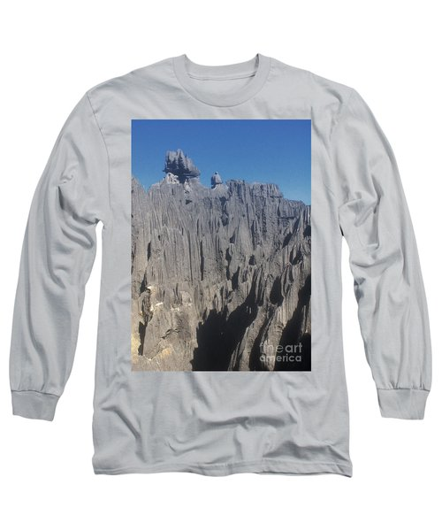 Long Sleeve T-Shirt featuring the photograph detail of the Tsingy de Bemaraha Madagascar by Rudi Prott