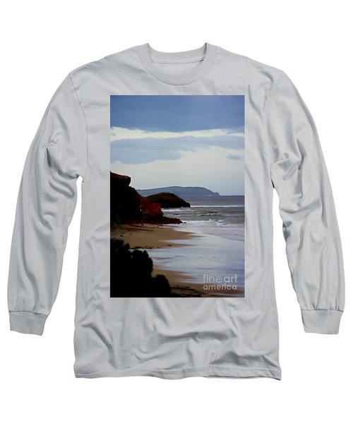 Digital Painting Of Smiths Beach Long Sleeve T-Shirt by Blair Stuart