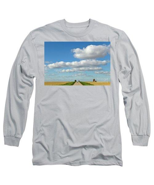 Dirt Road And Grain Elevator Williston Long Sleeve T-Shirt