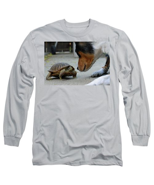 Dog And Turtle Long Sleeve T-Shirt by Shoal Hollingsworth