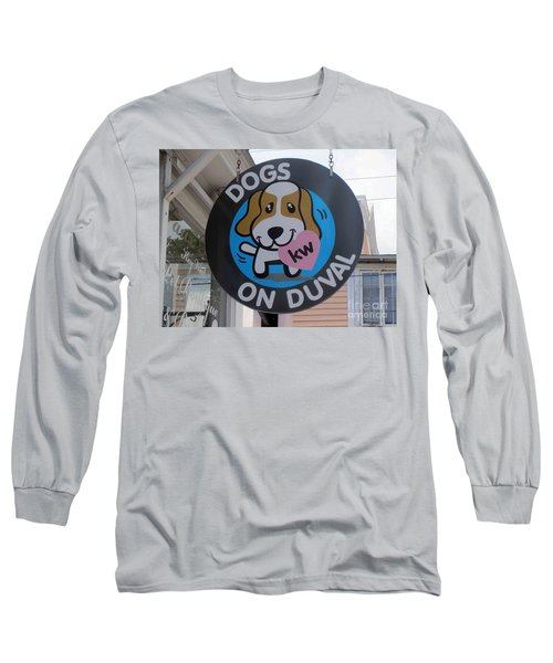 Dogs On Duval Long Sleeve T-Shirt by Fiona Kennard