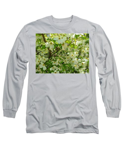 Long Sleeve T-Shirt featuring the photograph Dogwood Kissed By The Sun by Becky Lupe
