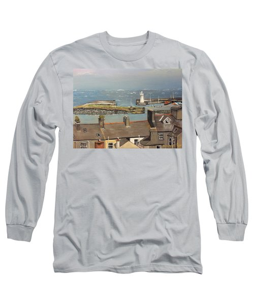 Long Sleeve T-Shirt featuring the painting Donaghadee Ireland Irish Sea by Brenda Brown