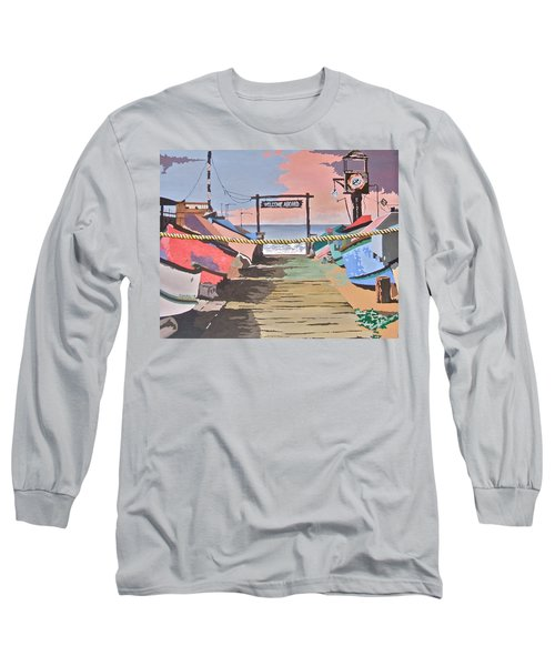 Dory Fishing Fleet -newport Beach Long Sleeve T-Shirt