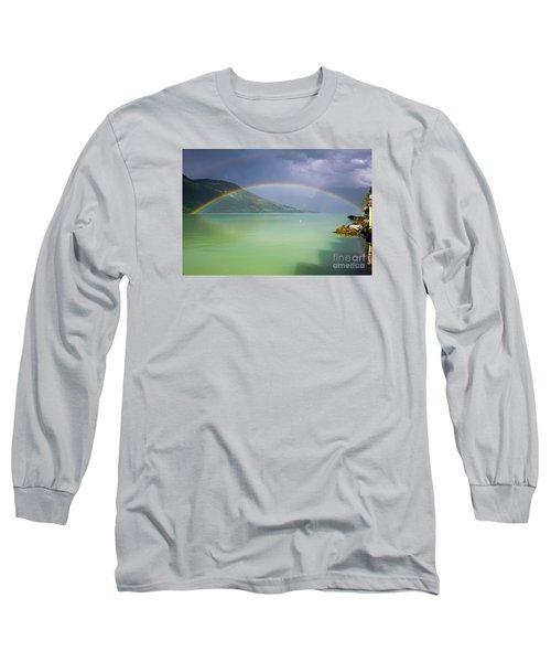 Double Rainbow Long Sleeve T-Shirt by IPics Photography
