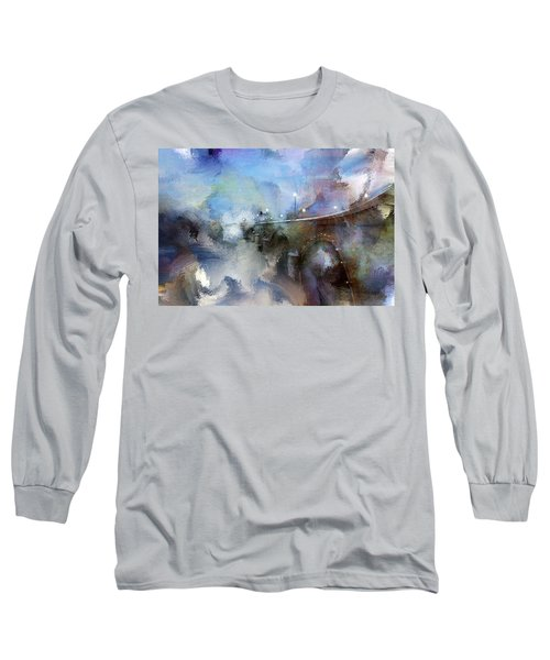 Downtown Bridge Over The Grand Grand Rapids Michigan Long Sleeve T-Shirt by Evie Carrier
